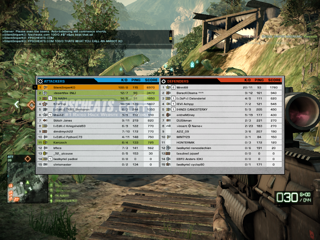 LEVEL: Battlefield Bad Company 2 + All Other Hacks by De.Bug FREE